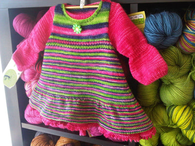 ANNABELLE Baby Dress Knitting Kit by Stephanie Voyer
