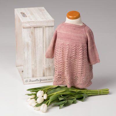 Foliage Baby Dress - Knitting Pattern