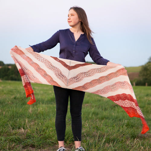Highlands Sunset Shawl Knitting Kit