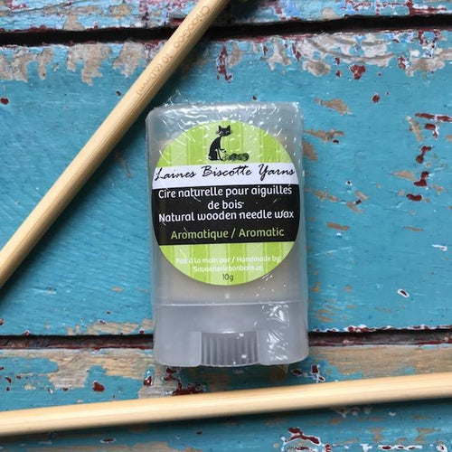 Biscotte Natural Wooden Needle Wax