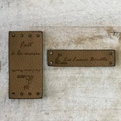 Leather labels - Les Laines Biscotte / Biscotte Yarns