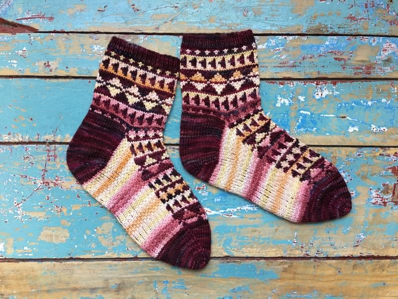 Triangle Socks | Knitting Pattern