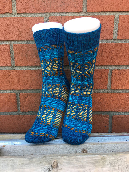 Taos Tributary Socks | Knitting Pattern