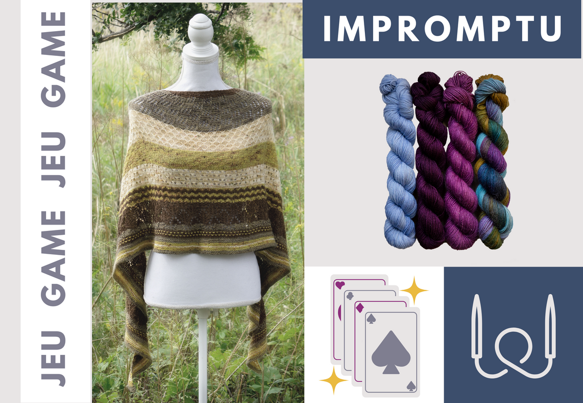 Biscotte's Shawl Knitting Game | The Knitting Kit Played with a Deck of Cards ♠ ORIGINAL VERSION