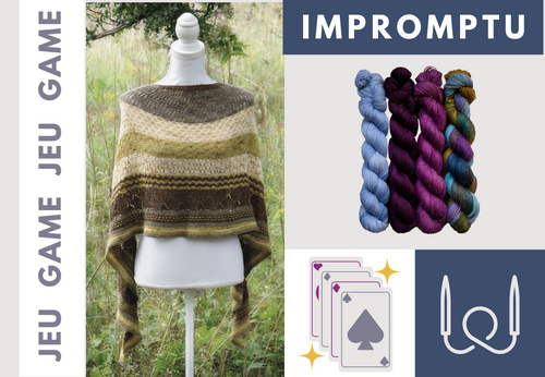 Biscotte's Shawl Knitting Game | The Knitting Kit Played with a Deck of Cards ♠ SUPER SOCK ONLY