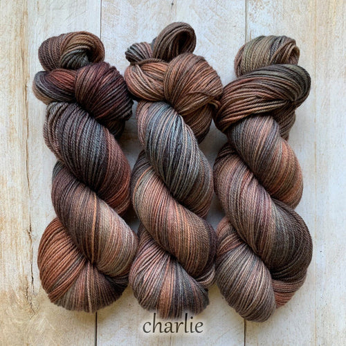 CHARLIE by Louise Robert Design | SUPER SOCK hand-dyed Variegated yarn