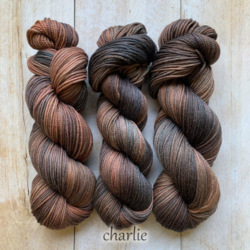 CHARLIE by Louise Robert Design | DK PURE hand-dyed Variegated yarn