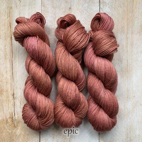 EPIC by Louise Robert Design | SUPER SOCK hand-dyed semi-solid yarn