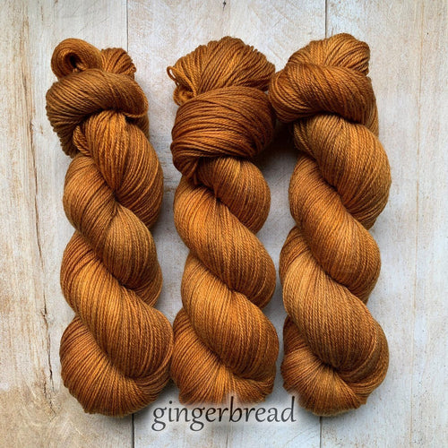 GINGERBREAD by Louise Robert Design | SUPER SOCK hand-dyed semi-solid yarn