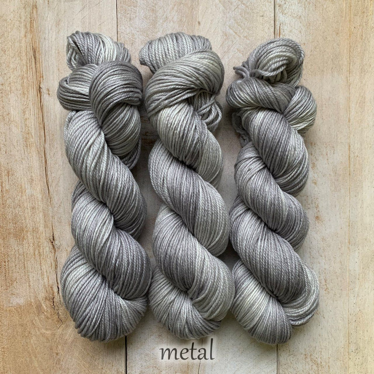 METAL by Louise Robert Design | DK PURE hand-dyed semi-solid yarn
