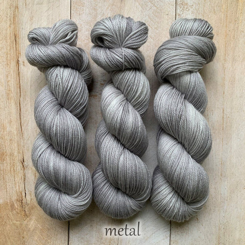 METAL by Louise Robert Design | SUPER SOCK hand-dyed semi-solid yarn