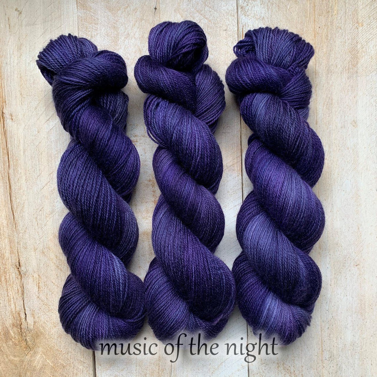 MUSIC OF THE NIGHT by Louise Robert Design | SUPER SOCK hand-dyed semi-solid yarn