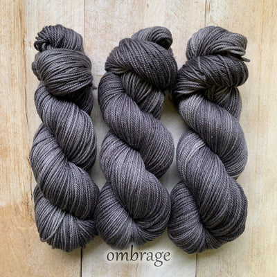 OMBRAGE by Louise Robert Design | SUPER SOCK hand-dyed semi-solid yarn