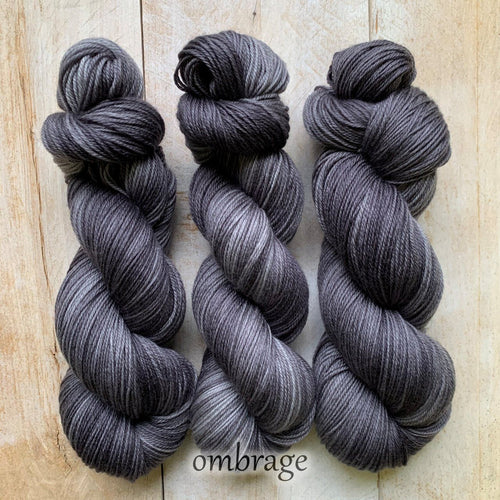 OMBRAGE by Louise Robert Design | DK PURE hand-dyed semi-solid yarn