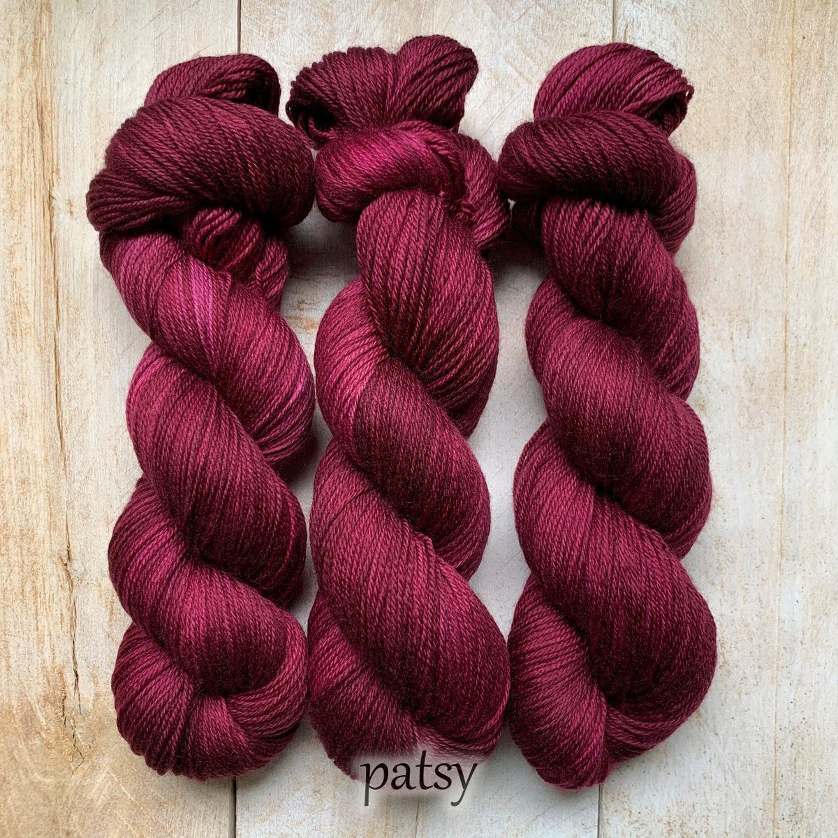PATSY by Louise Robert Design | SUPER SOCK hand-dyed semi-solid yarn