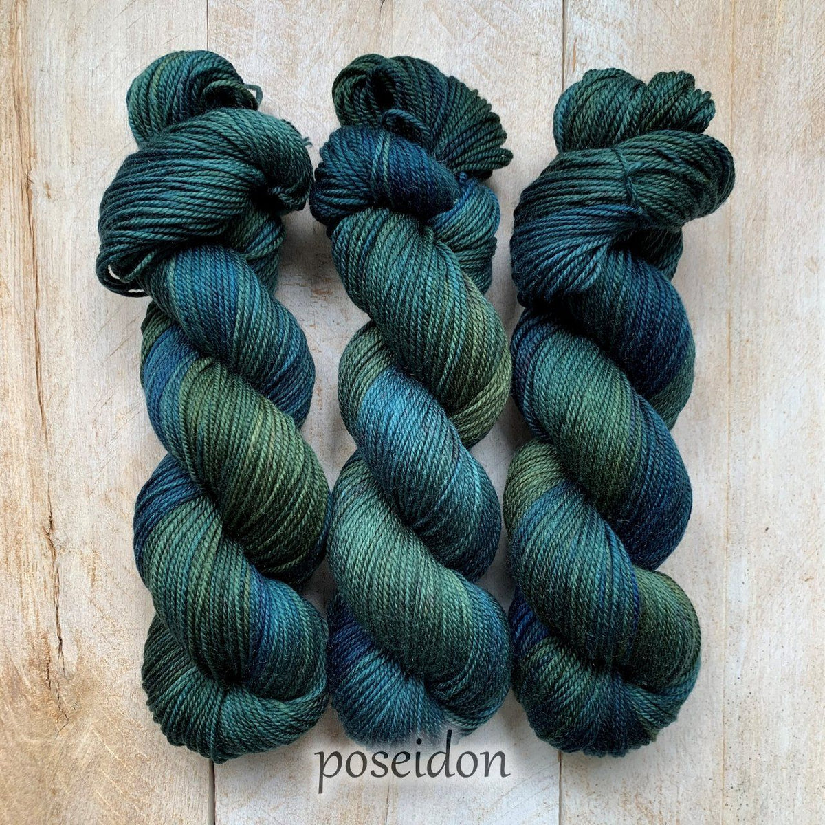 POSEIDON by Louise Robert Design | DK PURE hand-dyed Variegated yarn