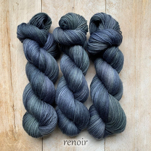 RENOIR by Louise Robert Design | SUPER SOCK hand-dyed semi-solid yarn