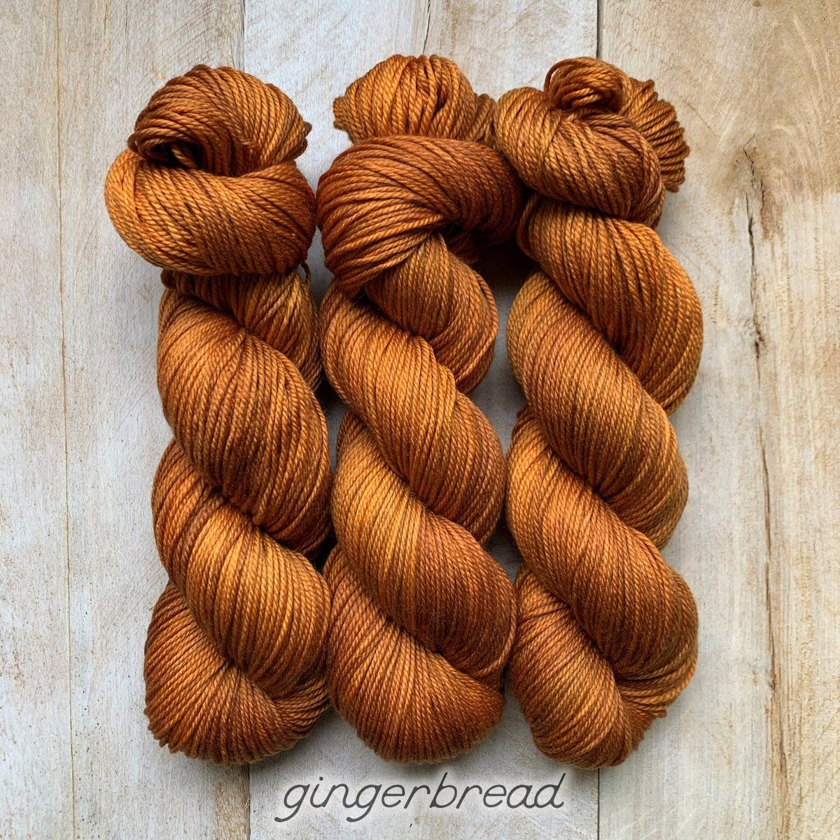 GINGERBREAD by Louise Robert Design | DK PURE hand-dyed semi-solid yarn