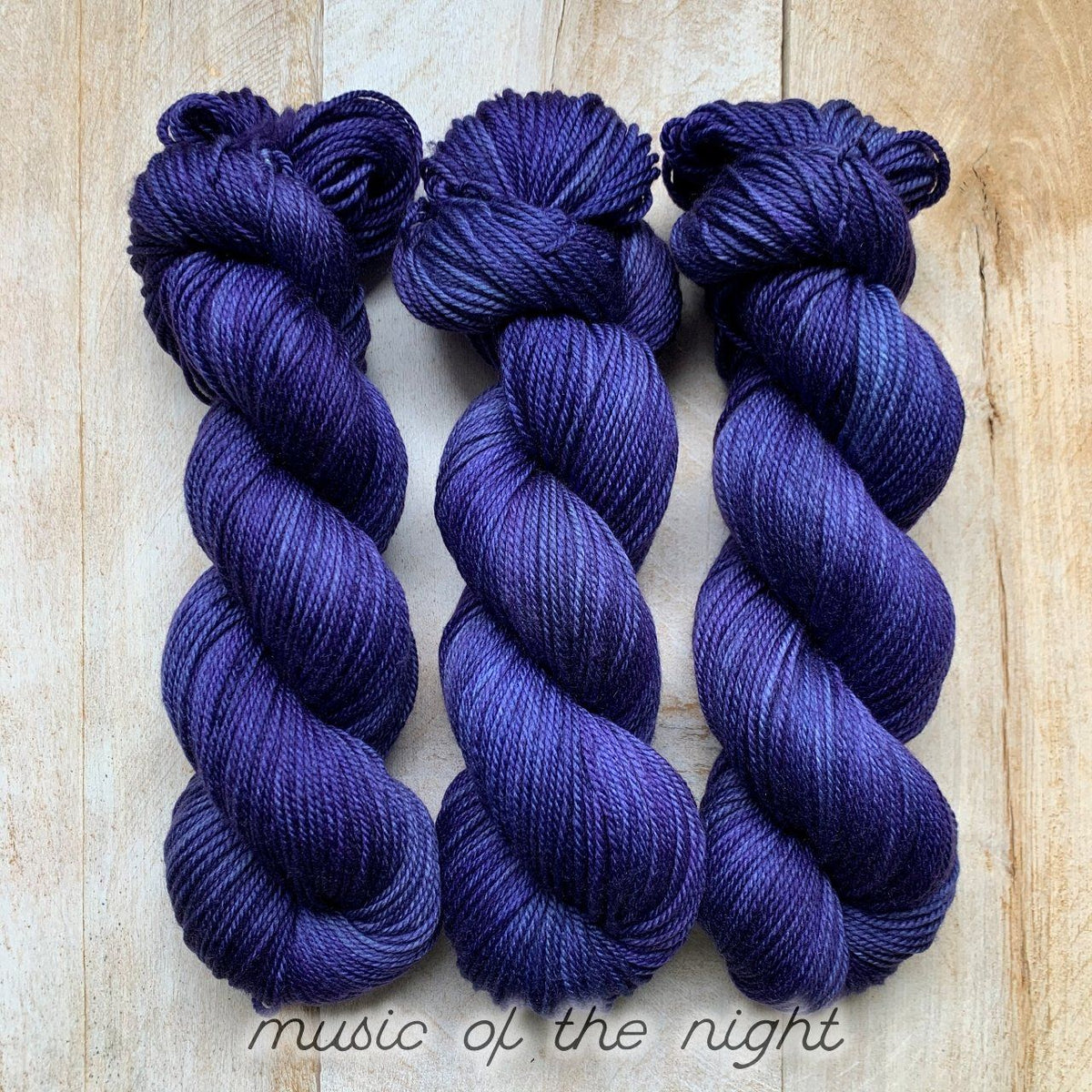MUSIC OF THE NIGHT by Louise Robert Design | DK PURE hand-dyed semi-solid yarn