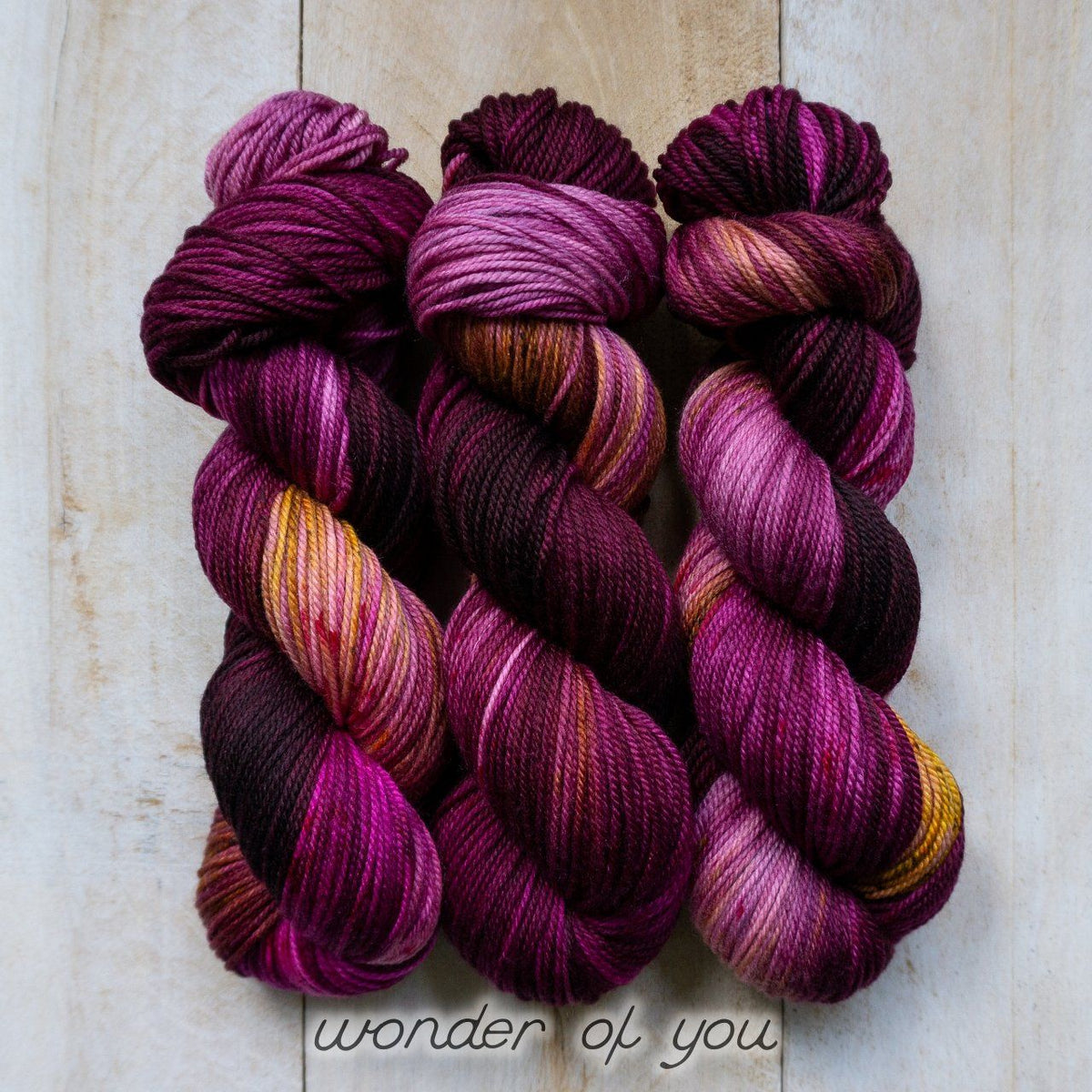 WONDER OF YOU by Louise Robert Design | DK PURE hand-dyed Variegated + Speckled yarn