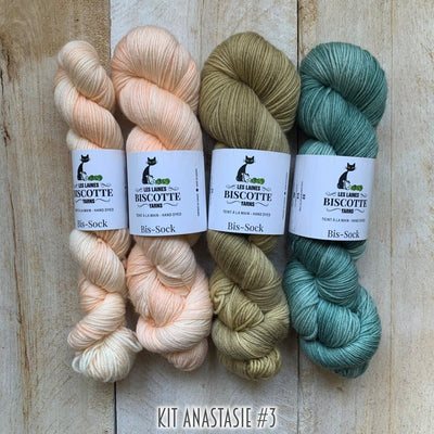 Yarn kit for crocheters to make the Anastasie shawl