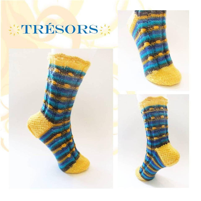 Sock pattern Tresors - Biscotte yarns