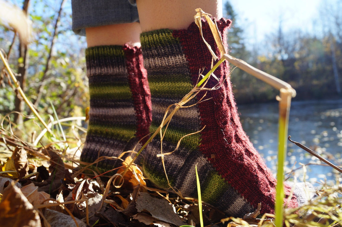 Vipere's tongue sock pattern - Biscotte yarns