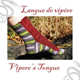 Vipere's tongue sock pattern - Biscotte yarns  - 1