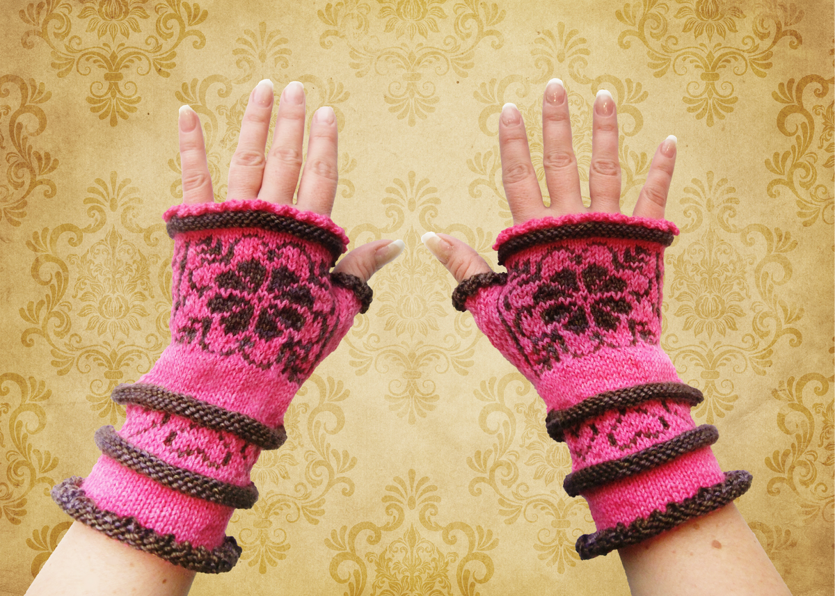 Juliette's Mittens | Wrist warmer knitting pattern