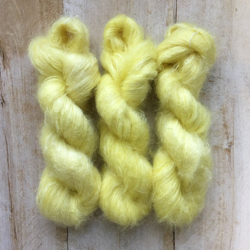 Hand-Dyed Kid Silk Yarn | Hermione LIMONADE  | 50g
