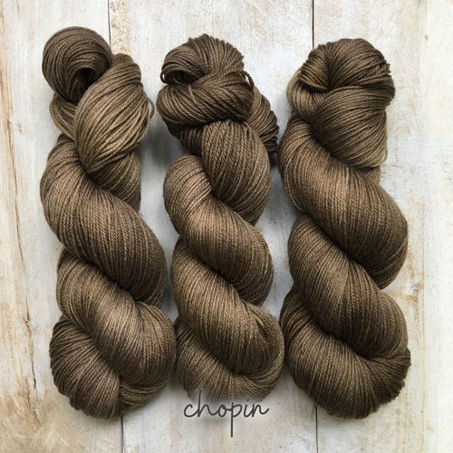 CHOPIN by Louise Robert Design | SUPER SOCK hand-dyed semi-solid yarn