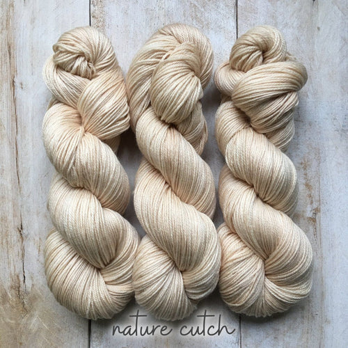 CUTCH by Louise Robert Design | SUPER SOCK hand-dyed yarn, natural dyes