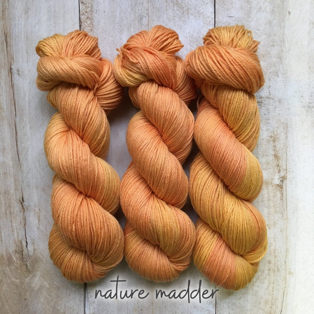 MADDER by Louise Robert Design | SUPER SOCK hand-dyed yarn, natural dyes