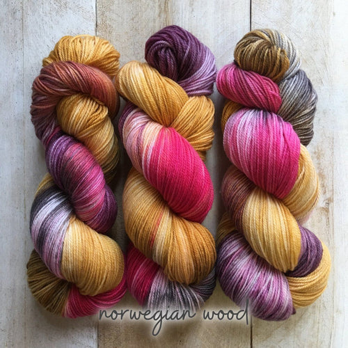 NORWEGIAN WOOD by Louise Robert Design | SUPER SOCK hand-dyed Variegated yarn