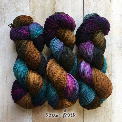 SOUS-BOIS by Louise Robert Design | SUPER SOCK hand-dyed Variegated yarn