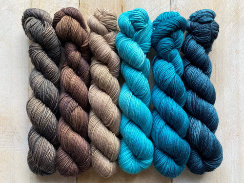 Mini Skeins of Yarn PAINTBOX gradient yarn set  MASSIF