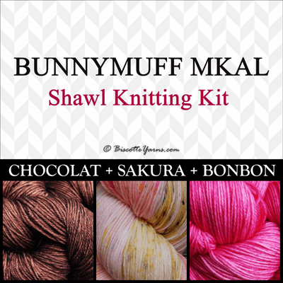 Shawl Knitting Kit ♥ by bunnymuff Mona Zillah