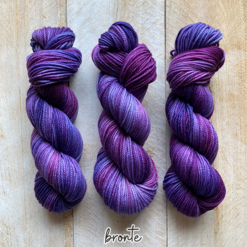 BRONTË by Louise Robert Design | MERINO WORSTED hand-dyed Variegated yarn