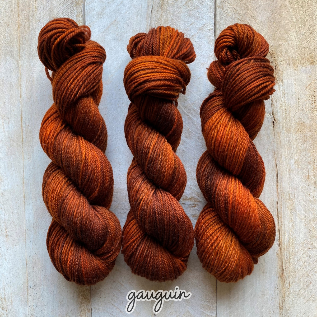 GAUGUIN by Louise Robert Design | MERINO WORSTED hand-dyed semi-solid yarn