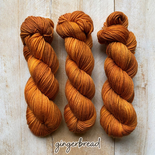 GINGERBREAD by Louise Robert Design | MERINO WORSTED hand-dyed semi-solid yarn