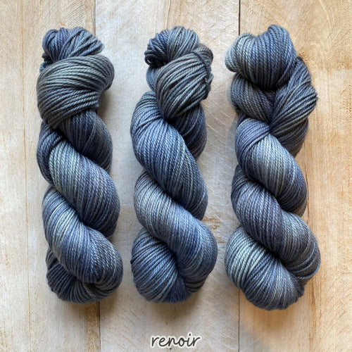 RENOIR by Louise Robert Design | MERINO WORSTED hand-dyed semi-solid yarn