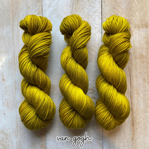 VAN GOGH by Louise Robert Design | MERINO WORSTED hand-dyed semi-solid yarn