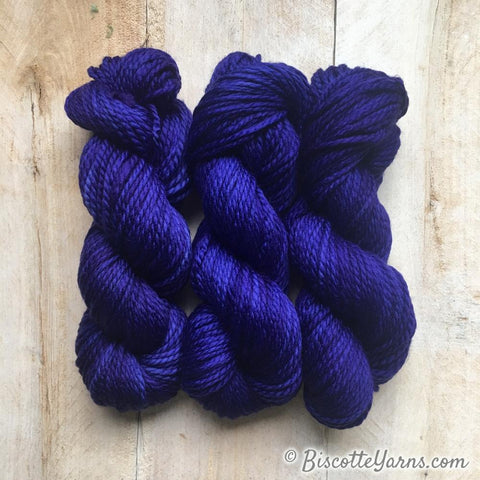 Hand-dyed Sparkling Lumos self-striping yarn  | Bears