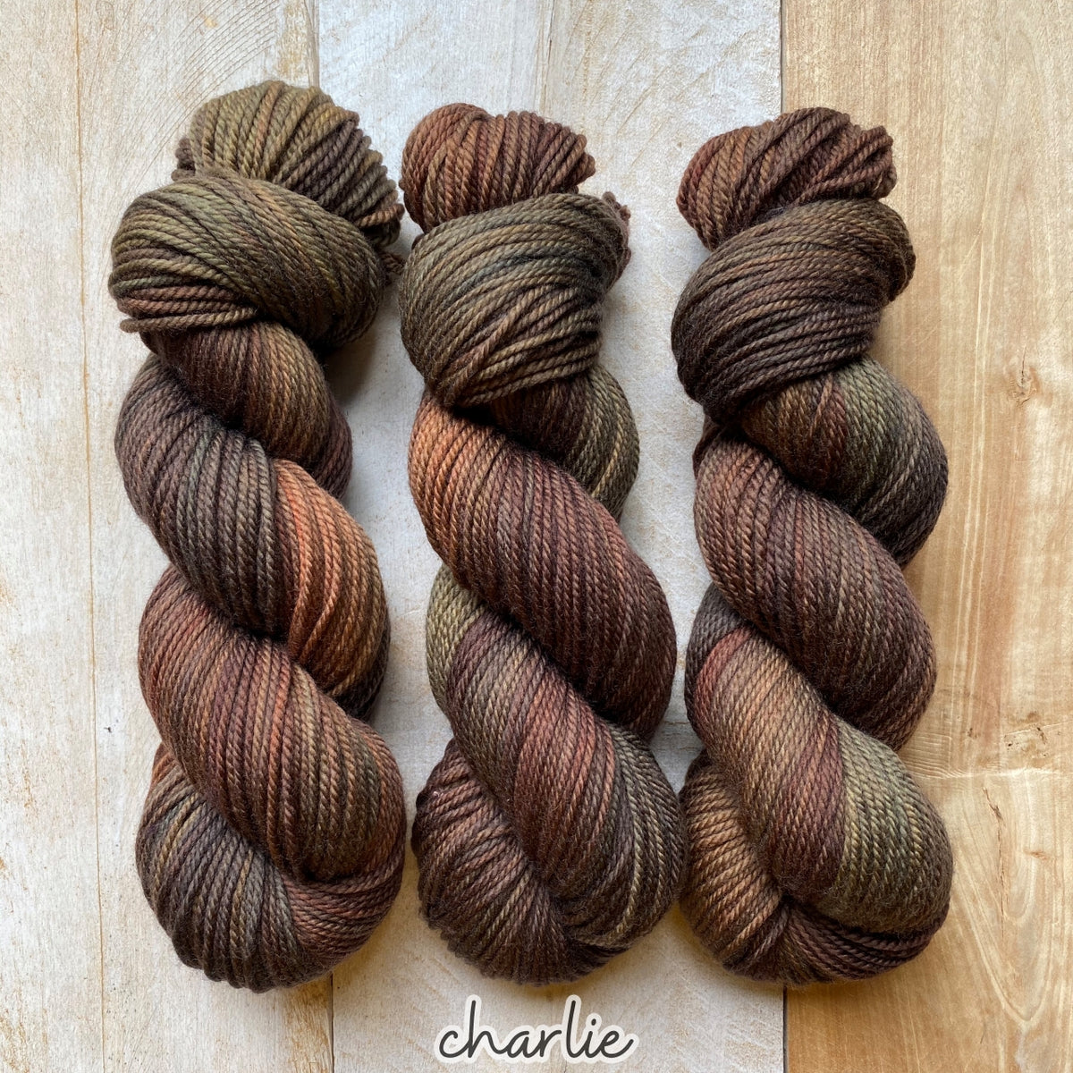 CHARLIE by Louise Robert Design | MERINO WORSTED hand-dyed Variegated yarn