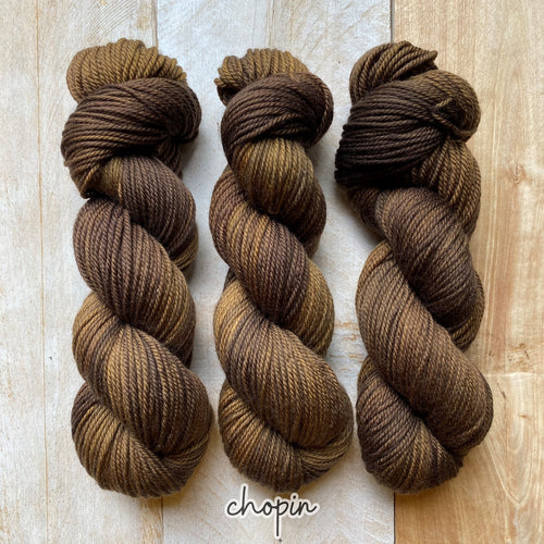CHOPIN by Louise Robert Design | MERINO WORSTED hand-dyed semi-solid yarn