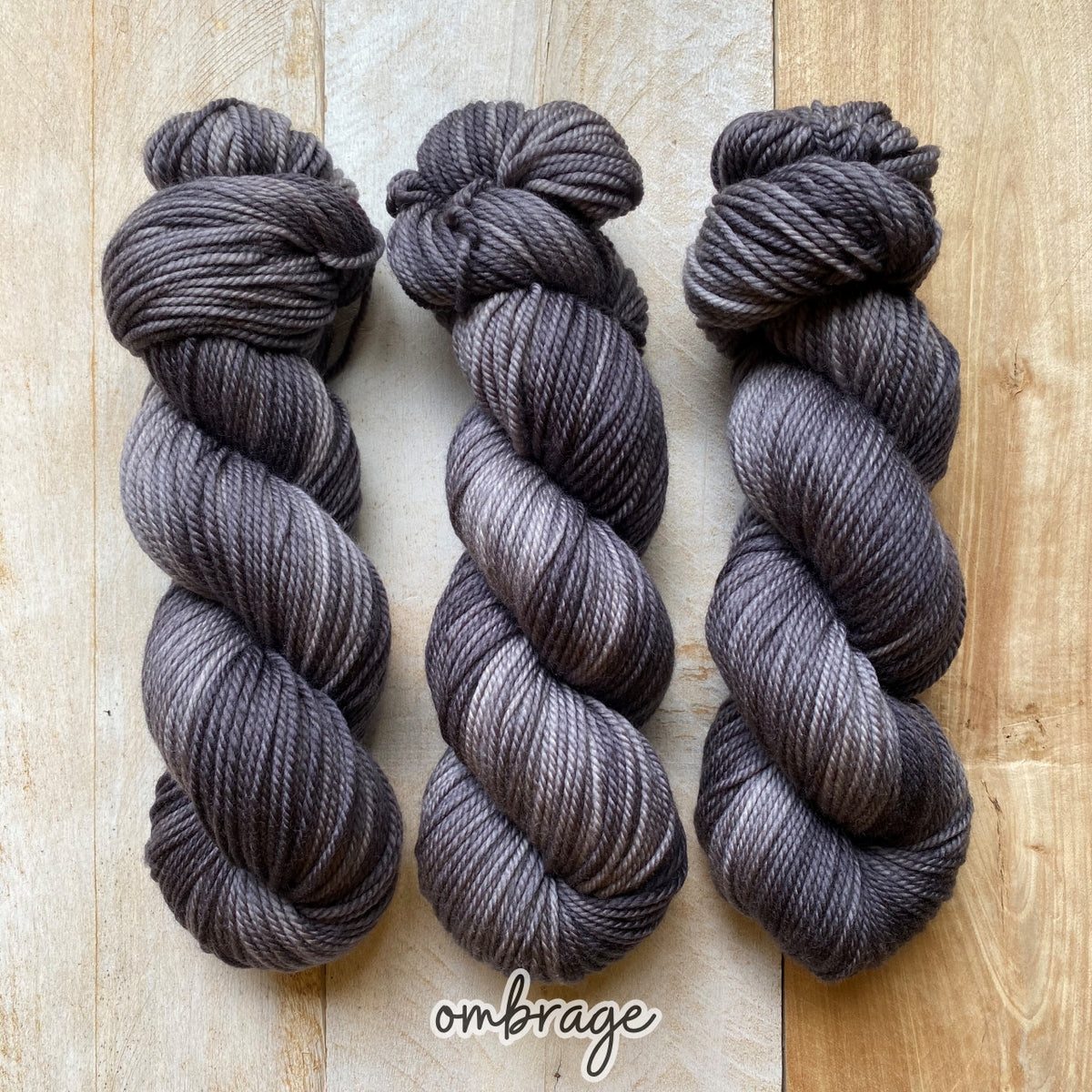 OMBRAGE by Louise Robert Design | MERINO WORSTED hand-dyed semi-solid yarn