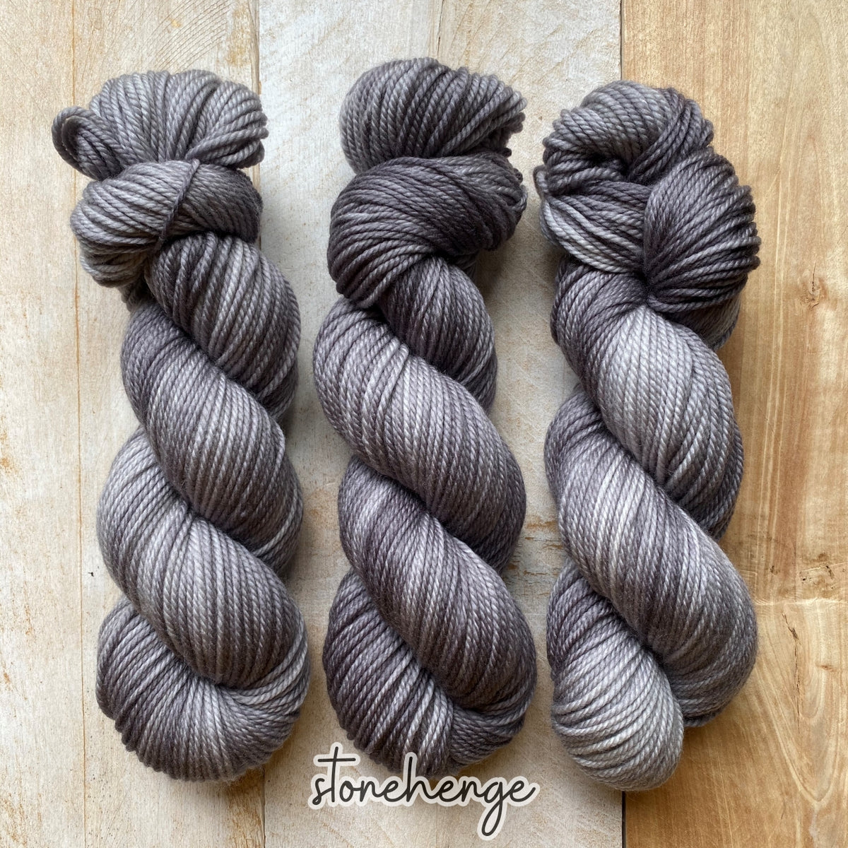 STONEHENGE by Louise Robert Design | MERINO WORSTED hand-dyed semi-solid yarn