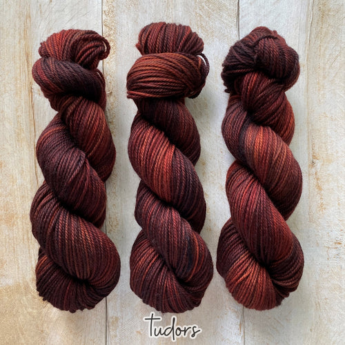 TUDORS by Louise Robert Design | MERINO WORSTED hand-dyed semi-solid yarn