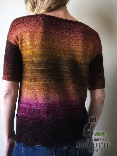Metamorphic Tee - Free Knitting Pattern