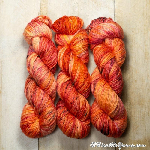 DK PURE | speckled dk weight yarn Orange Sanguine
